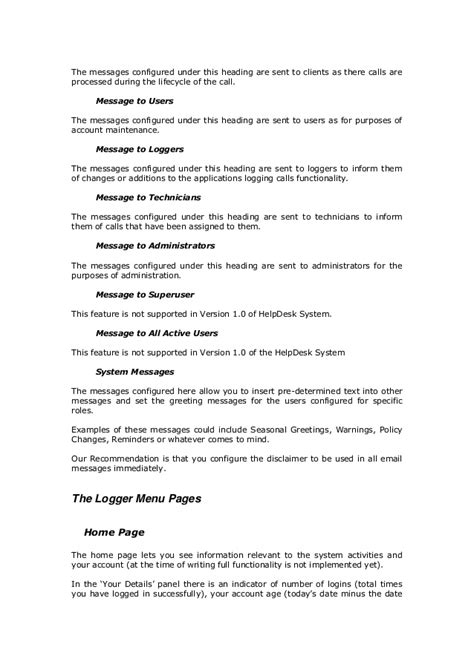 help desk manual template help desk manual template images template design ideas