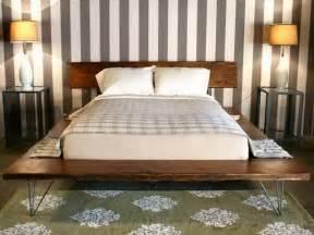 Bedroom how to make diy platform wood bed frames cheap platform beds