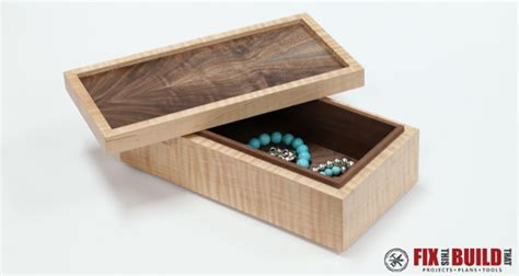 simple wooden jewelry box  plans fixthisbuildthat