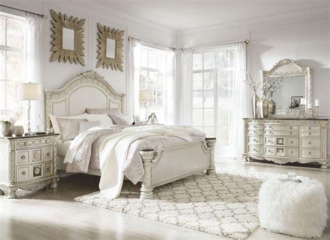 cassimore north shore pearl silver panel bedroom set  ashley coleman furniture