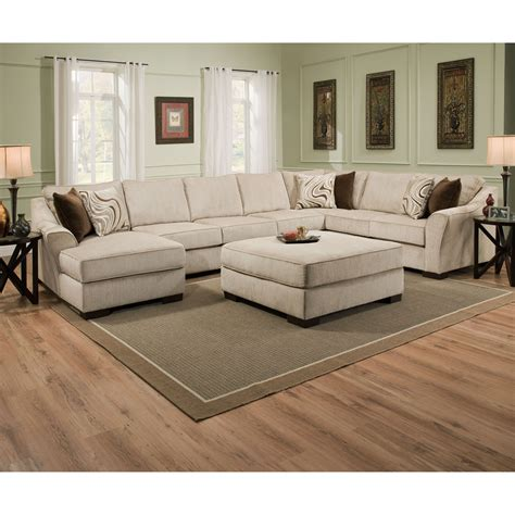Simmons Sectional Sofa Simmons Kingley Right Facing Sofa Sectional With Chaise Sectional Sofas At Hayneedle