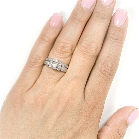 stunning wedding set rings unique engagement ring
