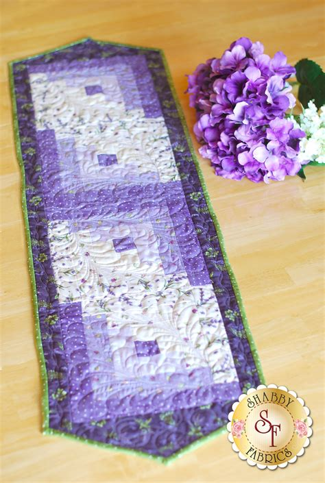 log cabin table runner pre cut kit thyme with friends