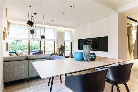 modern minimalist apartment  gdynia  dragon art design studio