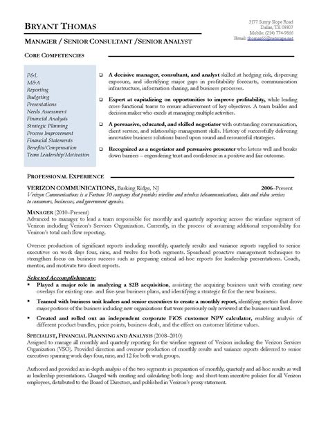 winning resume setup exles exle free finance manager