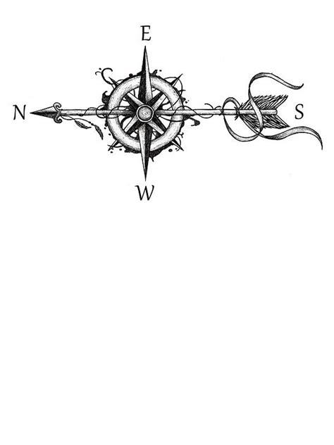 compass virgo tattoo compass with arrow sticker compass and arrow
