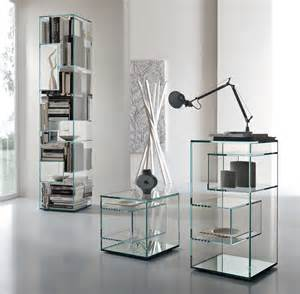 Bookshelves Glass Tonelli Liber Glass Bookcase Modern Bookcases Tonelli