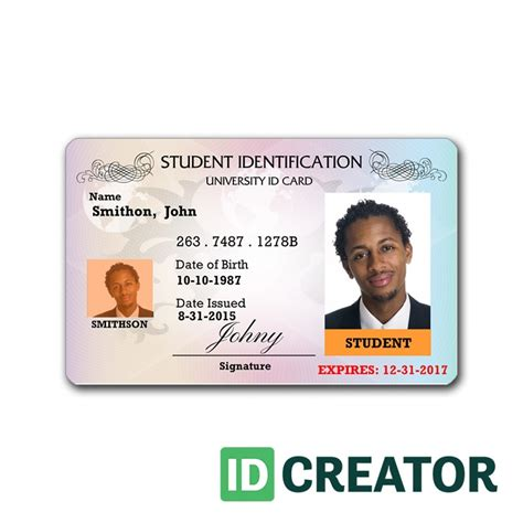 free printable id card maker id card template bikeboulevardstucson com