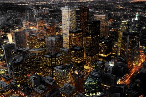 aerial view  toronto canada  night department  civil mineral engineering