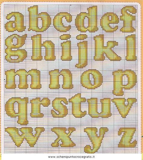lettere da copiare alfabeti schema punto croce gratuito da stare