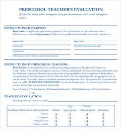 evaluation of teachers performance template sle evaluation form 4 documents in pdf