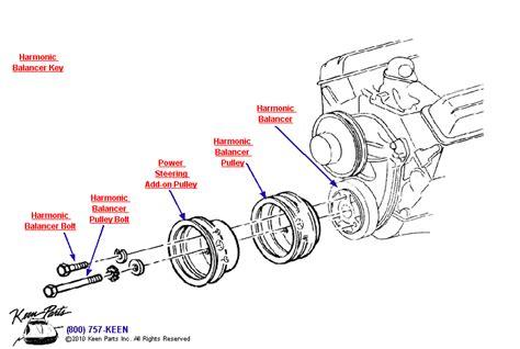 harmonic balancer diagram 1968 corvette harmonic balancer parts parts