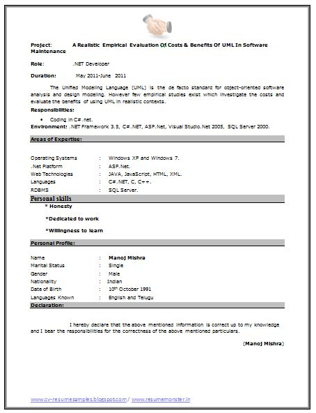 Bcom Fresher Resume Sle Doc 10000 cv and resume sles with free