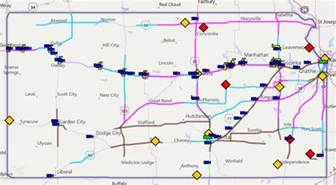 road condition map kansas transportation current road conditions