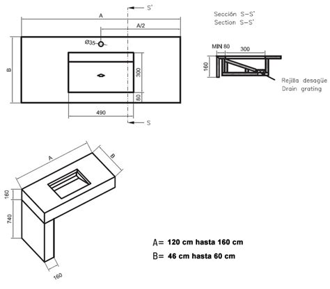 medidas de encimeras lavabo y encimera para ba 241 o equilibrium silestone