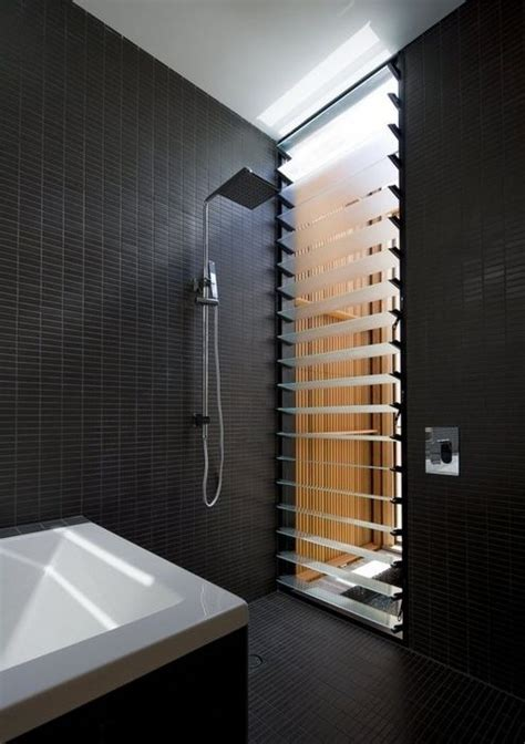 bathroom window louvers matte black tiles bathroom pinterest matte black