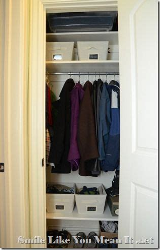 Bottom Of Closet Storage by 1000 Images About Coat Closet On Shelves Hooks And Winter Coats