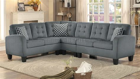 Grey Sectional Sofa by Sinclair Sectional Sofa 8202gry Sc In Grey Fabric By