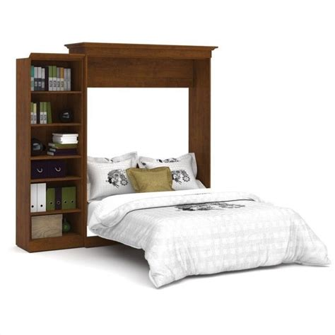 queen wall bed bestar versatile 92 queen wall w storage unit tuscany