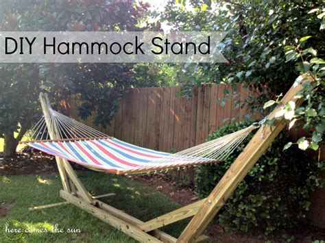 backyard hammock stand simple bookcase plans free build your own hammock stand