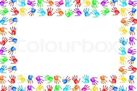 Bild Mit Rahmen Drucken by Rahmen Aus Farbe Handabdr 252 Cke Stockfoto Colourbox