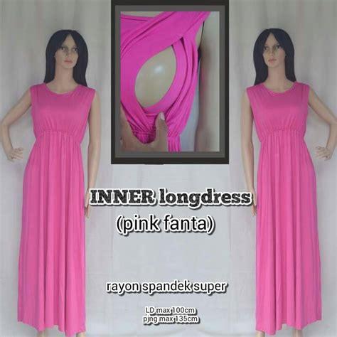 Baju Menyusui Inner Pappi 2 jual baju inner menyusui dalaman manset maxi dress warna pink fanta oline menyusui
