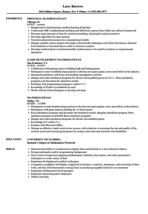Polygraph Examiner Sle Resume by Mathematician Resume Sles Velvet