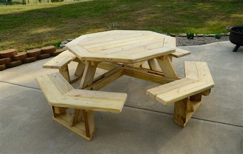 Large Picnic Table by Large Octagonal Picnic Table