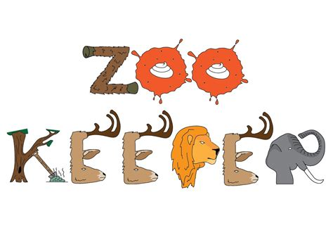 typography zoo typography zoo zookeeper clipart best clipart best