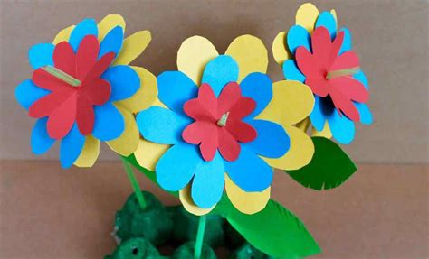 Paper Flower Craft For Children - happy home turkey easy crafts for with