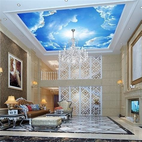 home design 3d ceiling height beibehang photo large clouds 3d interior ceiling in the