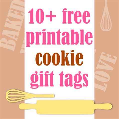 free printable gift tags for baked goods free printable baked goods gift tags ausdruckbare