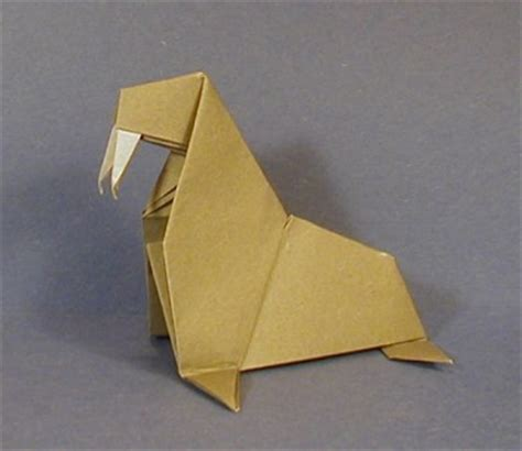 Walrus Origami - walrus animal origami for the enthusiast the