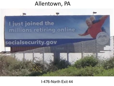 Social Security Office Allentown Pa by Social Security Outdoor Billboard Psa Caign