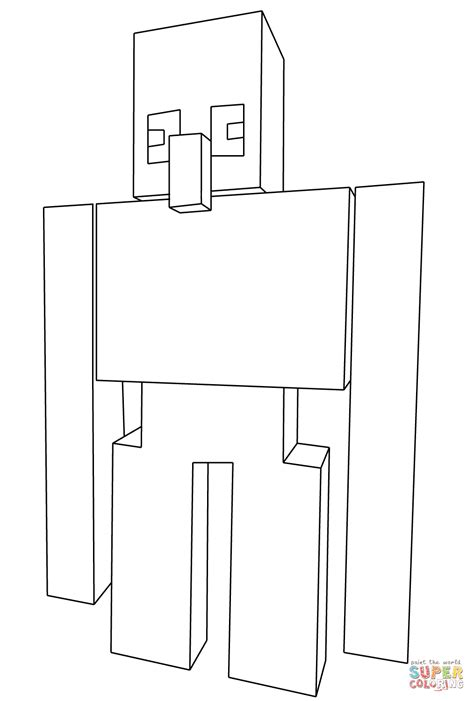 minecraft coloring pages iron golem minecraft iron golem drawing www pixshark com images