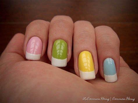 imagenes de uñas decoradas frances las 25 mejores ideas sobre color de manicura franc 233 s en