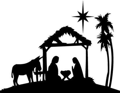 imagenes de siluetas del nacimiento de jesus natividad silueta and dise 241 o de tarjetas on pinterest