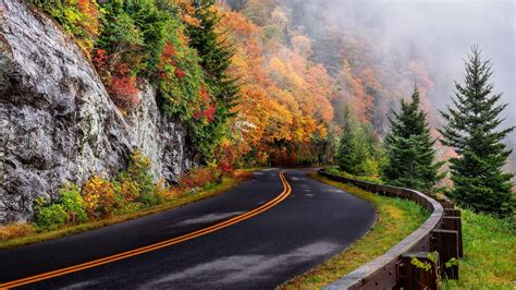 Fall Mountain Road Wallpaper   Wallpaper Studio 10   Tens