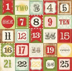 printable numbers 1 20 christmas advent calendar tutorial christmas pinterest advent