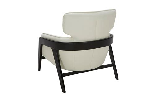 White Leather Accent Chair with Divani Casa Beaufort Modern White Leather Accent Chair