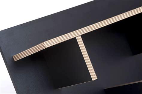 rack shelf l 90 x h 45 cm black wood by pop up home