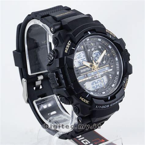 Jam Tangan Pria Digitec Time Original Black Gold Water Resis digitec dg 3021t black gold jam tangan sport anti air murah