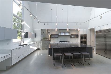 This Old House Kitchen Cabinets Modern Massachusetts Forest House With Two Story Ceilings