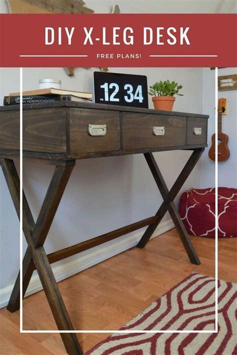diy  leg desk  drawers peeks temecula home easy