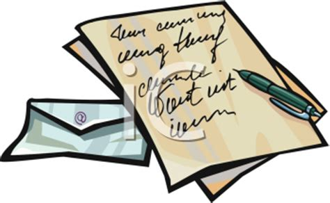 business letter clipart recommendation cliparts