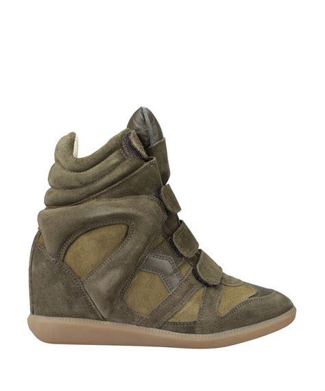marant green sneakers price 80 marant bekett suede green s wedge