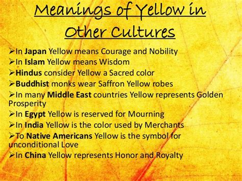 yellow colour meaning yellow