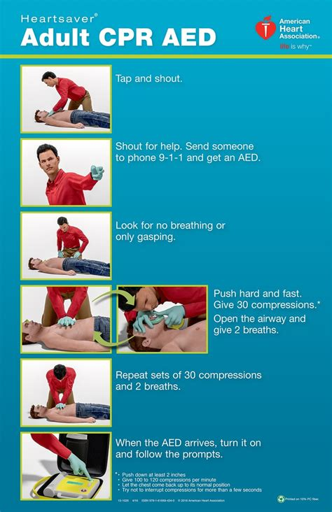 printable cpr poster 15 1026 heartsaver adult cpr aed poster 3