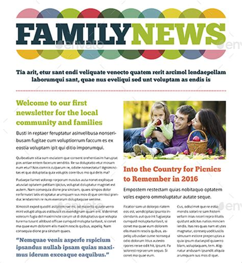 Family Newsletter Template Free family newsletter template 10 free psd pdf documents