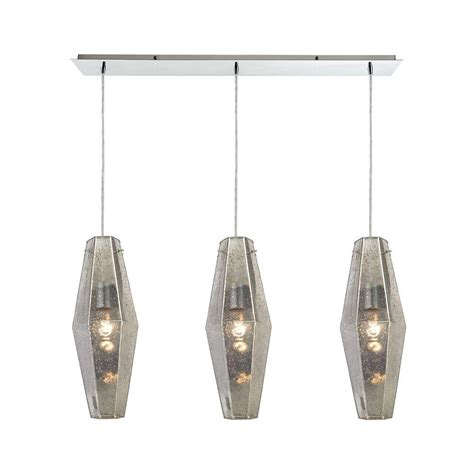 Pelham Home Depot by Feiss 3 Light Polished Nickle Pendant F3113 3pn The